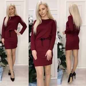 Платье короткое с длинным рукавом Ч0699