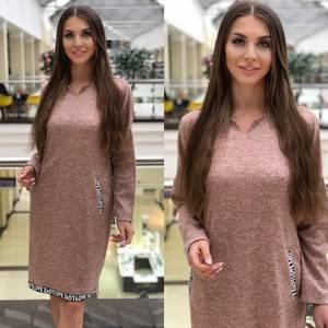 Платье короткое с длинным рукавом Ю0744