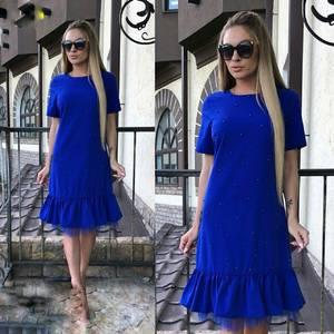 Платье короткое современное Ю6435