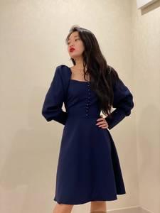 Платье короткое с длинным рукавом Ю3915
