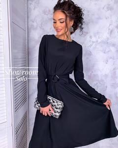 Платье короткое с длинным рукавом Я0164