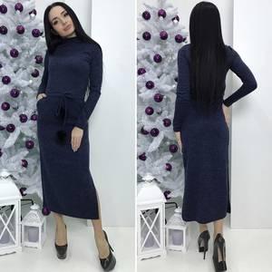 Платье длинное с длинными рукавами Ш2982