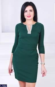 Платье короткое с рукавом 3/4 Ш3065