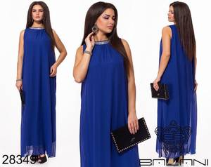 Платье длинное однотонное Ч0701