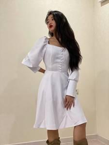 Платье короткое с длинным рукавом Ю3916