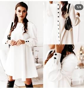 Платье короткое с длинным рукавом Я1362