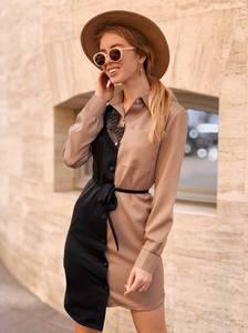 Платье короткое с длинным рукавом Ц5382