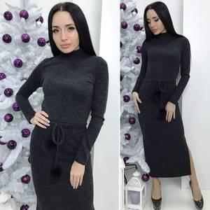 Платье длинное с длинными рукавами Ш2983