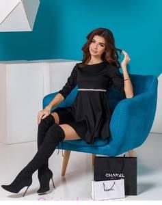 Платье короткое с рукавом 3/4 Ш6055