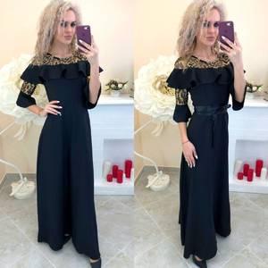 Платье длинное однотонное Ш7391