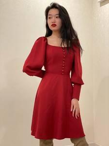 Платье короткое с длинным рукавом Ю3917