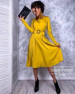 Платье короткое однотонное Я0166