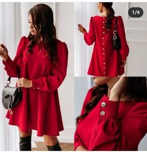 Платье короткое с длинным рукавом Я1363