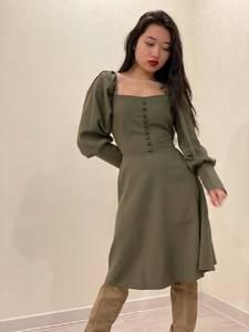 Платье короткое с длинным рукавом Ю3918