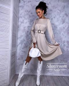 Платье короткое с длинным рукавом Я0167