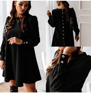 Платье короткое с длинным рукавом Я1364