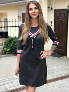 Платье короткое с рукавом 3/4 Ш1766