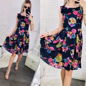 Платье короткое с принтом Ч0314