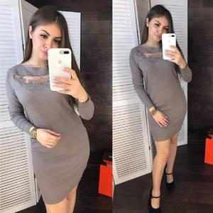 Платье короткое облегающее Ш8508