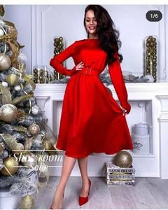 Платье короткое с длинным рукавом Я0168