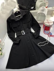Платье короткое черное А29466