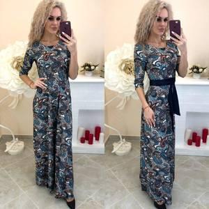 Платье длинное с принтом Ш8197