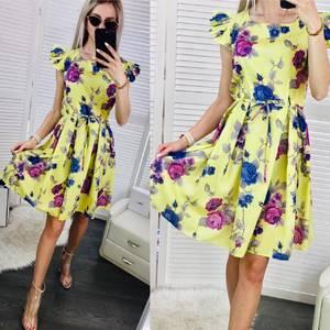 Платье короткое с принтом Ч0315