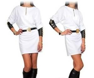 Платье короткое с длинным рукавом Я1365