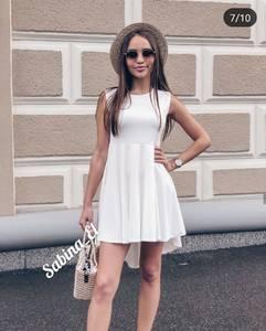 Платье короткое однотонное Ч7905