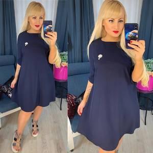 Платье короткое однотонное Я0664