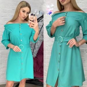 Платье короткое однотонное Я0734