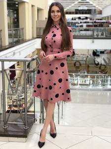 Платье короткое с длинным рукавом Я1401
