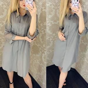 Платье короткое однотонное Я1752
