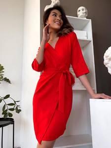 Платье короткое с длинным рукавом Я2612