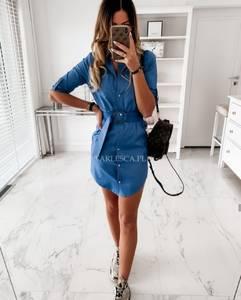 Платье короткое однотонное Я2620