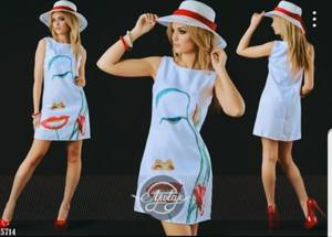 Платье короткое летнее Я7574