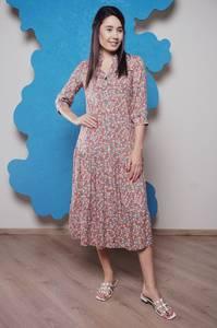 Платье длинное с принтом Ч1178