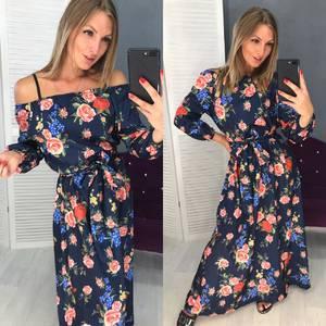 Платье длинное с принтом Ч1589