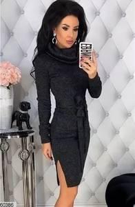 Платье короткое с длинным рукавом А09610