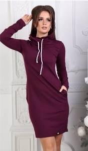 Платье короткое с длинным рукавом А10068