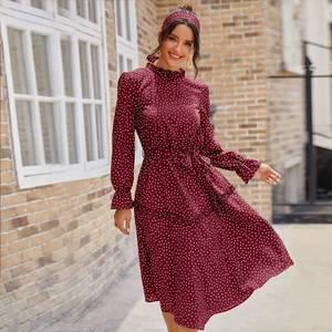 Платье короткое с длинным рукавом А32715