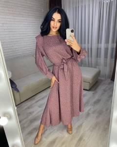 Платье короткое с длинным рукавом А48317