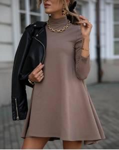 Платье короткое однотонное А54830