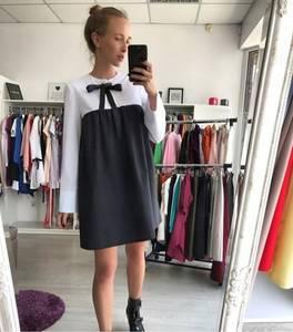 Платье короткое с длинным рукавом Ц5703