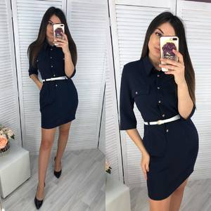 Платье короткое классическое Ч6609