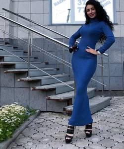 Платье длинное с длинными рукавами Ч9841