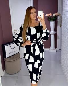 Платье короткое с длинным рукавом Ш8003
