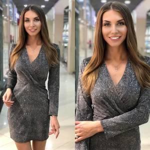 Платье короткое нарядное Ш8337