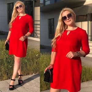 Платье короткое однотонное Ю4327
