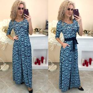 Платье длинное с принтом Ш8198